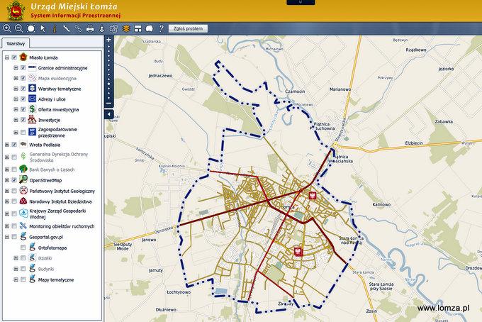 Lomza W Systemie Informacji Przestrzennej Lomza