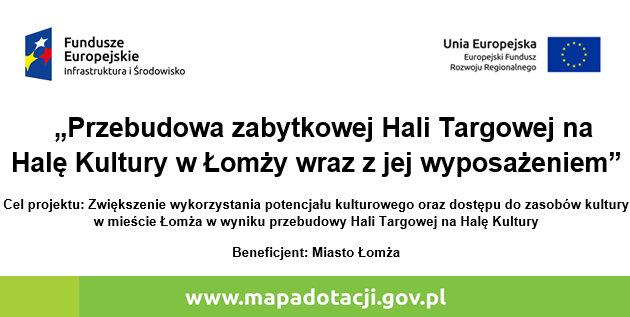 Przebudowa zabytkowej Hali Targowej na Halę Kultury w Łomży wraz z jej wyposażeniem